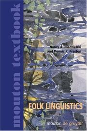 Cover of: Folk linguistics