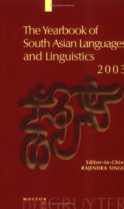 Cover of: The Yearbook Of South Asian Languages And Linguistics 2003
