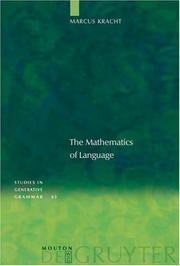 Cover of: The mathematics of language