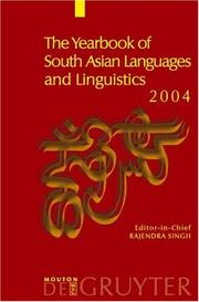 Cover of: The Yearbook Of South Asian Languages And Linguistics 2004 (The Yearbook of South Asian Languages and Linguistics)