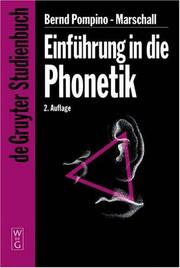 Cover of: Einfuhrung in Die Phonetik