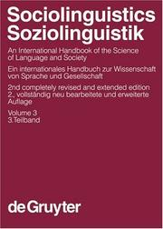 Cover of: Sociolinguistics |