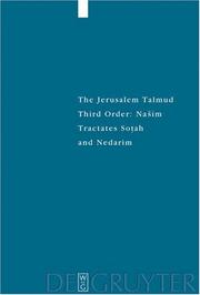 Cover of: The Jerusalem Talmud
