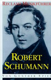 Cover of: Robert Schumann