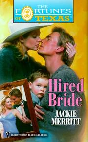 Cover of: Hired Bride (The Fortune'S Of Texas) (Fortunes of Texas, 12) by Jackie Merritt