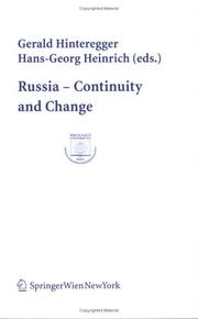 Cover of: Russia - Continuity and Change |