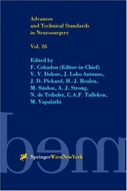 Cover of: Advances and Technical Standards in Neurosurgery / Volume 26 (Advances and Technical Standards in Neurosurgery) |