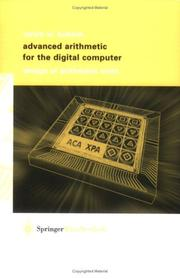 Cover of: Advanced arithmetic for the digital computer | Ulrich Kulisch
