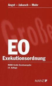 Cover of: Exekutionsordnung