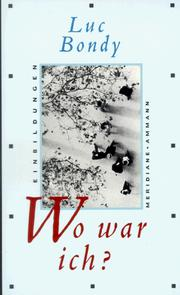 Cover of: Wo war ich?