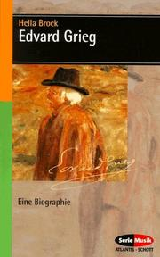 Cover of: Edvard Grieg. Eine Biographie