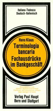 Cover of: Terminologia bancaria = by Hans Klaus