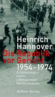 Cover of: Die Republik vor Gericht
