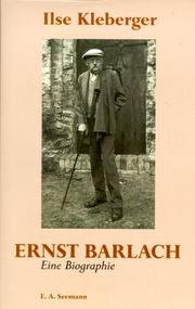 Cover of: Ernst Barlach