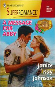 Cover of: A Message for Abby