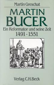 Cover of: Martin Bucer