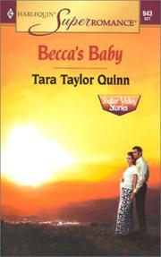 Cover of: Becca's Baby: Shelter Valley Stories (Harlequin Superromance No. 943)