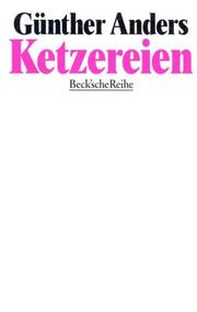 Cover of: Ketzereien