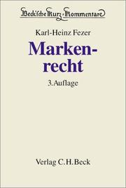 Cover of: Markenrecht