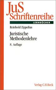 Cover of: Juristische Methodenlehre
