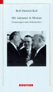 Cover of: Mit Adenauer in Moskau