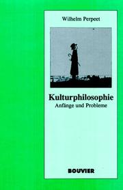 Cover of: Kulturphilosophie