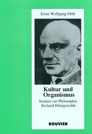 Cover of: Kultur und Organismus