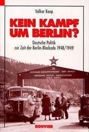 Cover of: Kein Kampf um Berlin?
