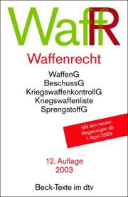 Cover of: Waffenrecht
