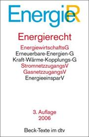 Cover of: Energierecht: Textausgabe