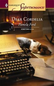 Cover of: Dear Cordelia | Pamela Ford