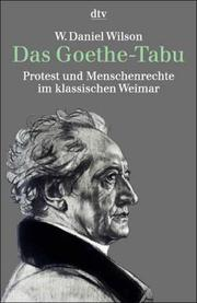 Cover of: Das Goethe-Tabu