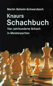 Cover of: Knaurs Schachbuch