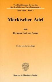 Märkischer Adel by Hermann Arnim