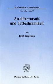 Cover of: Anstiftervorsatz und Tatbestimmtheit