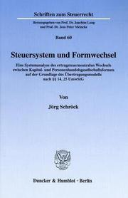 Cover of: Steuersystem und Formwechsel