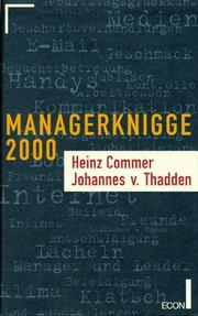 Cover of: Manager-Knigge 2000