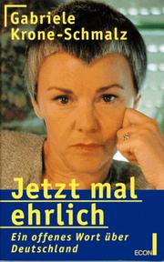 Cover of: Jetzt mal ehrlich