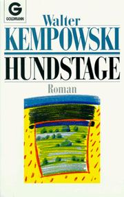 Cover of: Hundstage. Roman