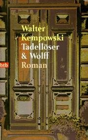 Cover of: Tadelloser und Wolff