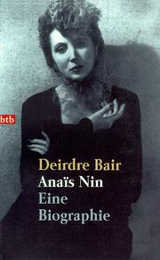 Cover of: Anais Nin. Eine Biographie