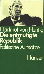 Cover of: Die entmutigte Republik