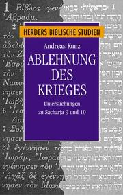 Cover of: Ablehnung des Krieges