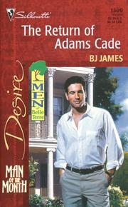 Cover of: Return Of Adams Cade (Man Of The Month/Men Of Belle Terre)