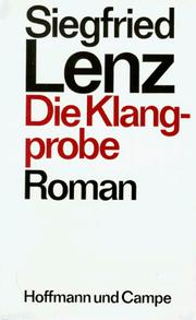 Cover of: Die Klangprobe