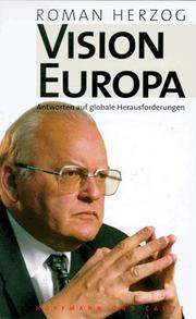 Cover of: Vision Europa