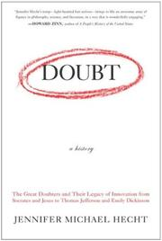 Cover of: Doubt: A History | Jennifer Michael Hecht