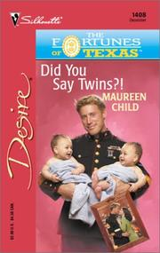 Cover of: Did You Say Twins?! (The Fortunes Of Texas: The Lost Heirs)