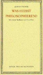Cover of: Was heisst philosophieren?