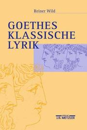Cover of: Goethes klassische Lyrik